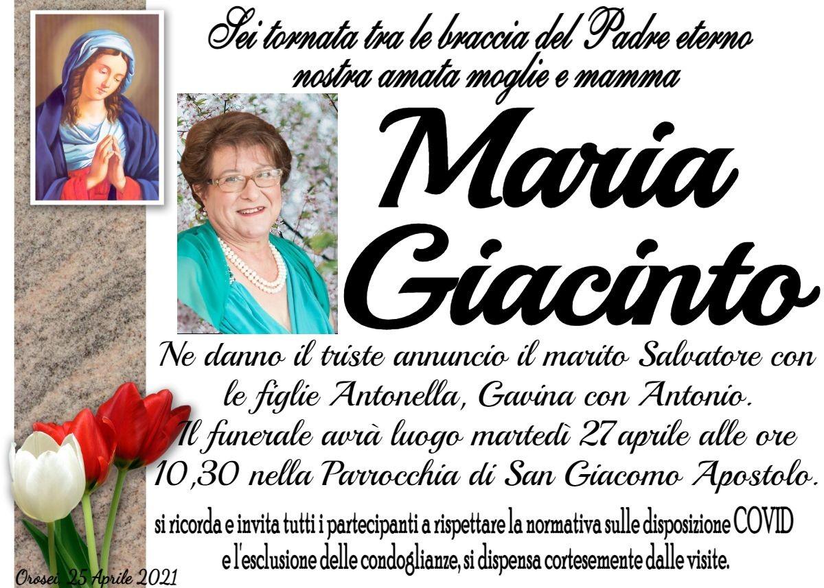 MANIFESTO Maria Giacinto