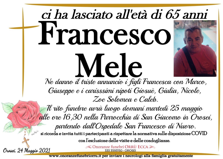 MANIFESTO Mele Francesco