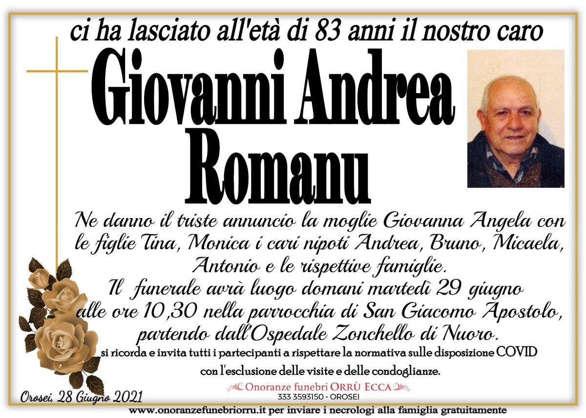 MANIFESTO Giovanni Andrea Romanu