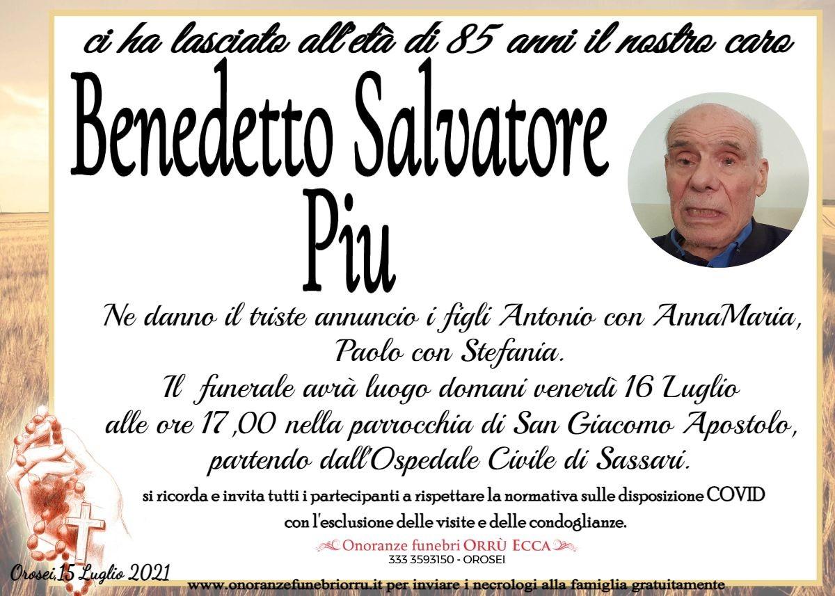 MANIFESTO Benedetto Salvatore Piu